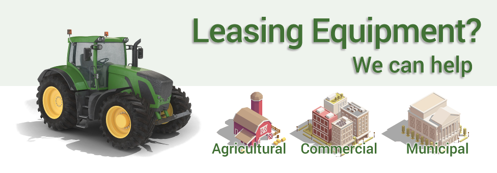 Leasing Equipment?  We can help